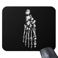 Mouse mats (mouse pads) with bones of the human foot