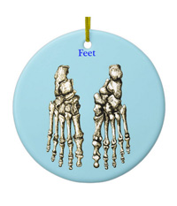Ornaments with bones of the human foot