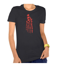 Bones of the human foot, women's tee-shotrsw
