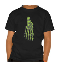 Bones of the human feet kid's tee-shirts